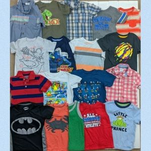 Boys Short Sleeve Shirts & Tank Tops Bundle (18)